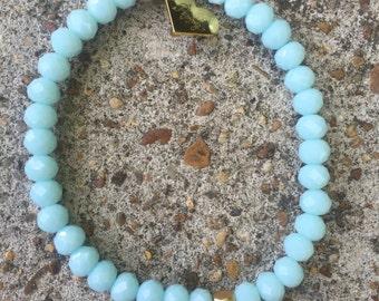 Thin Stretch Bracelet (baby blue)