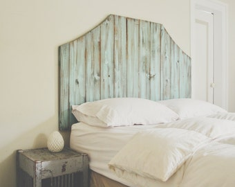 The Blue Atlas - Wooden Distressed Headboard