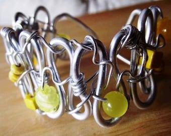 Aluminium yellow bracelet / Yellow Aluminum Bracelet
