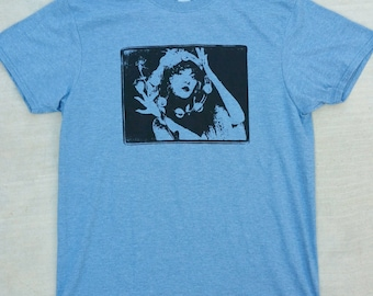 Stevie Nicks Gypsy with Rose and Tambourine Tee