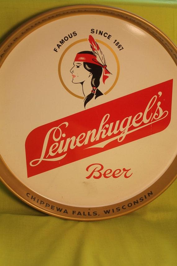 Leinenkugel s round metal tray jacob leinenkugel brewing company