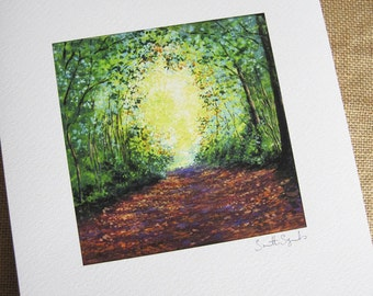 A4 Print, Tree Tunnel, Giclee print of Acrylic painting