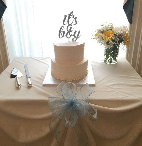 Baby Shower Cake Topper, Gender Reveal Cake Topper, It's a Boy Cake Topper, Baby Boy Cake Topper, Glitter Cake Topper