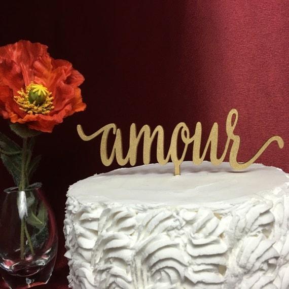 Amour Cake Topper, Wedding Cake Topper, Cake Toppers for Weddings, Engagement Cake Topper, Bridal Shower Cake Topper, Anniversary Topper