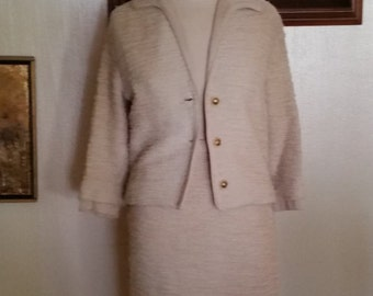 Two Piece Vintage Champagne Colored Suit