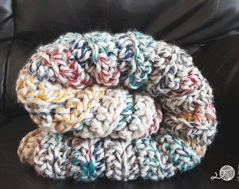 Crochet Pattern - Crochet Chunky Afghan Blanket {Baby, Twin, Full, Queen, King} Sizes - PDF