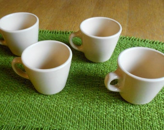 Set of 4 Vintage, Cream Color, Homer Laughlin Diner Coffee Cups