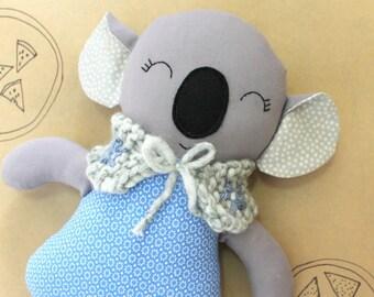 Girl Koala soft toy soft doll koala bear stuffed bear soft toy blue dress koala plushie bear soft toy child gift nursery decor girl birthday