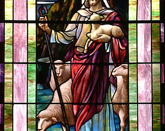 Stained Glass Jesus, Religious Wall Art, Confirmation Gift, Baptism, Window Photography, Christian Decor, Jesus Art, Architectural Photo