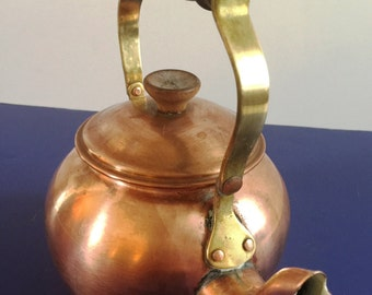 Small Copper Tagus Tea Pot made in Portugal # R-50