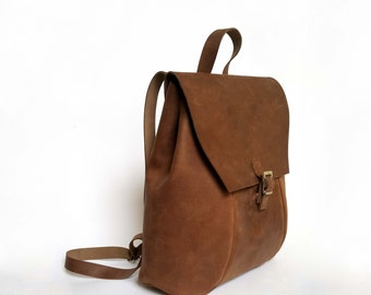 GENUINE LEATHER RUCKSACK, bag, backpack, full grain leather backpack, christmas gift