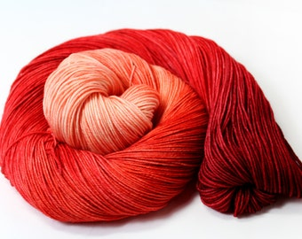 Vanilla Rooibos - DYED TO ORDER - 100g 438 yd 4 ply Fingering Yarn 100% Superwash Merino Wool - Groovy Hues Tea Collection- red, pink, cream