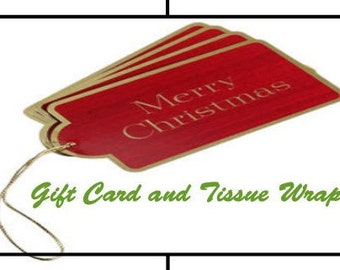 Tissue Wrap and Gift Card