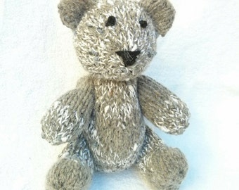 Clark the Hand Knit Teddy Bear, Knitted Bear, Knitted Toys, Bear, Children, Baby, Gift, Stuffed Animal, Bear Toy, Hand Knit Toy Teddy Bear