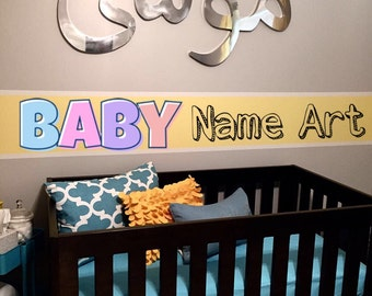 Custom Baby name art