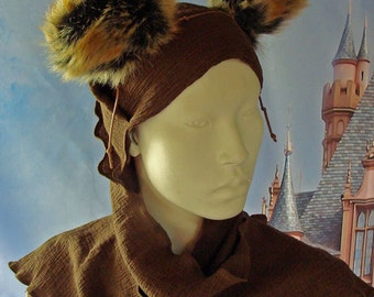 Star Wars Inspired Ewok Costume Head Scarf