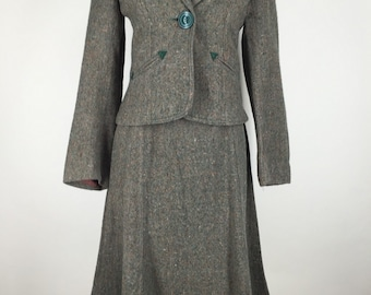 1970s Tweed Two Piece Suit