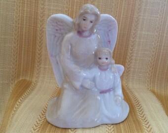 Angel with Child Porcelain Figurine, Ks Collection, Angel Figurine, Porcelain Angels, Angel Figurine,  Porcelain Angel Figurine, Angels