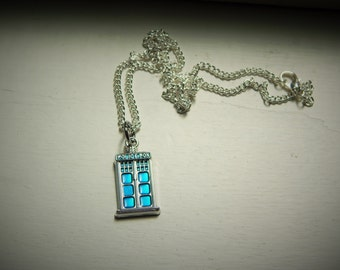 Tardis Charm Necklace
