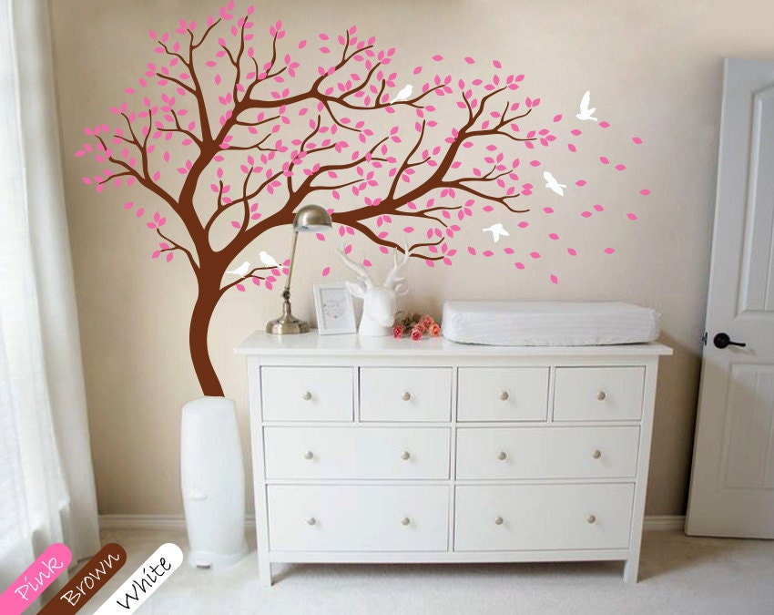 baum wand aufkleber gro er baum wand aufkleber kinderzimmer. Black Bedroom Furniture Sets. Home Design Ideas