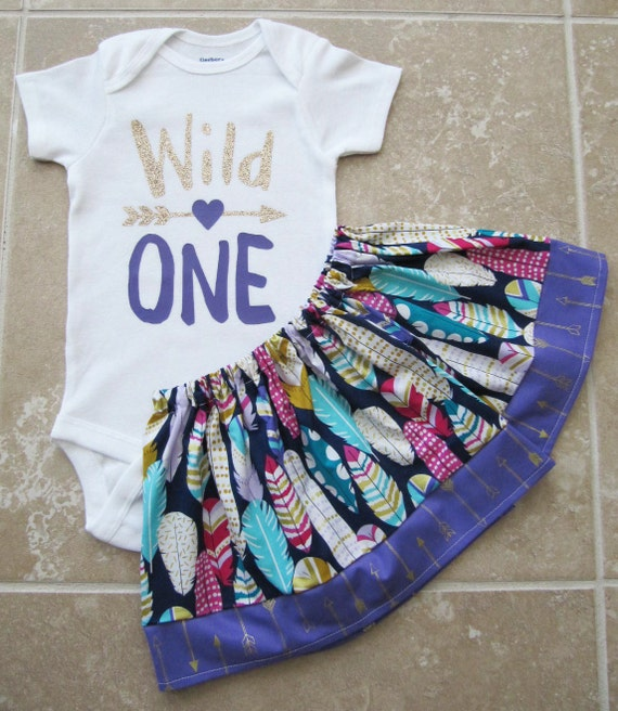 Wild One First Birthday Outfit Purple And Gold Girl First