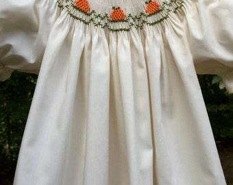 Ivory Pumpkin Hand Smocked Bishop