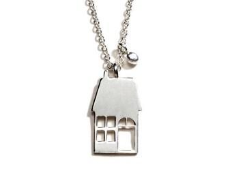 Handmade House Necklace
