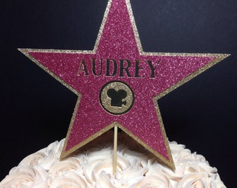 Walk of Fame Star Cake Topper | Award Show | Movie Theme | Hollywood Party Decor