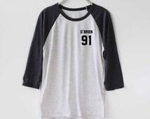 Dylan O'Brien Shirt Baseball Raglan Shirt Tee TShirt