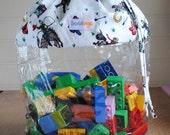 Invisibag - See-through Children's Toy Bag Drawstring Sack - Cowboys Design