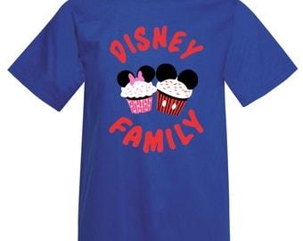 Adult Disney Family Cupcake T-Shirt