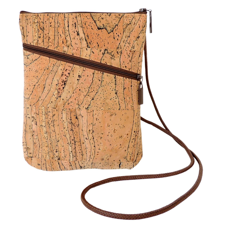 Cork Handbags: Cork Crossbody Bag Small Cork Shoulder Bag Vegan Bag By