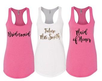 Bachelorette Party Shirts, Bridesmaid Shirts, Bridesmaid Tank Tops, Bridesmaid Gift, Wedding Tank Tops