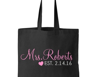 Future Mrs. Gift, Bride Tote Bag, Engagement Gift, Bridal Shower Gift, Bride to be tote bag, Wedding Bag, Tote Bags, Gift for the Bride