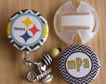 Team Stethoscope ID Tag and Personalized Badge Reel - Personalized Stethoscope Tag