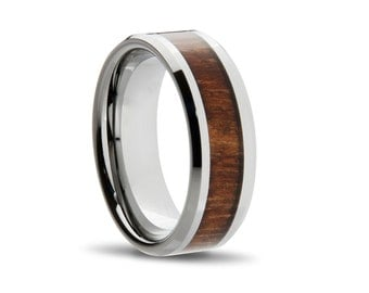 Custom Urban Wood Tungsten Ring