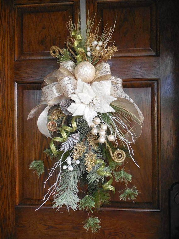 Items Similar To Christmas Swag Elegant Christmas Wreath