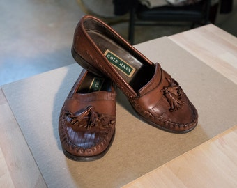 Vintage Cole Haan Brown Leather Loafers, Ladies Size 7