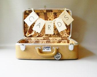 Vintage Polka Dot Suitcase/ Wedding Card Holder