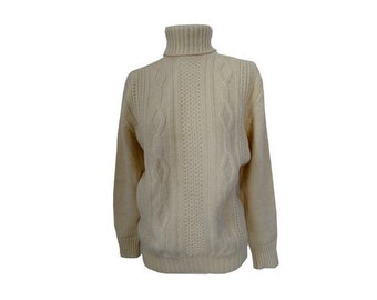 french 60s fisherman knit sweater // chunky  knit wool jumper