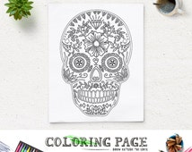 Unique Skull Coloring Page Related Items