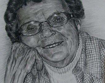 Custom made charcoal portraits-11x14-Example only