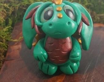 OOAK polymer clay dragon