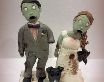 Zombie Couple Wedding Cake Topper Halloween, Undead