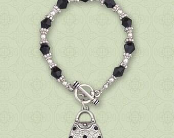 Purse Beaded Toggle Bracelet - 50554