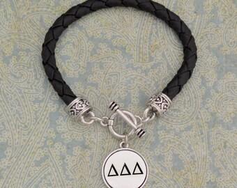 Delta Delta Delta Leather Bracelet - SRDDD56952