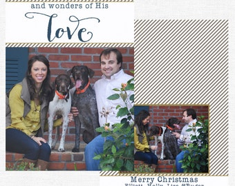 Wonders of His Love Christmas Cards-FREE SHIPPING or DIY printable
