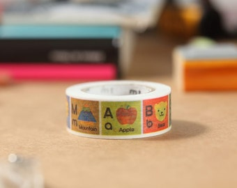 MT Washi Tape Alphabet A-M Japanese Masking Tape | mt for kids (MT01KID013)