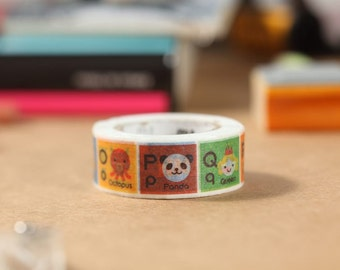 MT Washi Tape Alphabet N-Z Japanese Masking Tape | mt for kids (MT01KID014)
