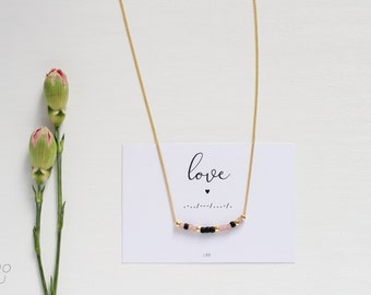 LOVE Morse Code Necklace, Morse Code Jewelry, Morse Code Necklace, Love Necklace, Love Jewelry, Make a wish, Gift for her, Birthday gift